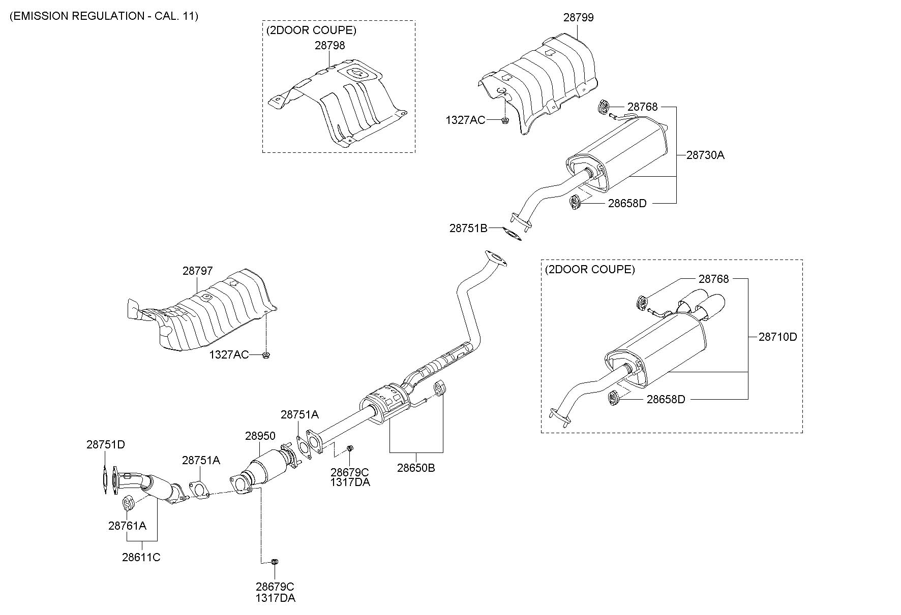 Hyundai Elantra Muffler Assembly