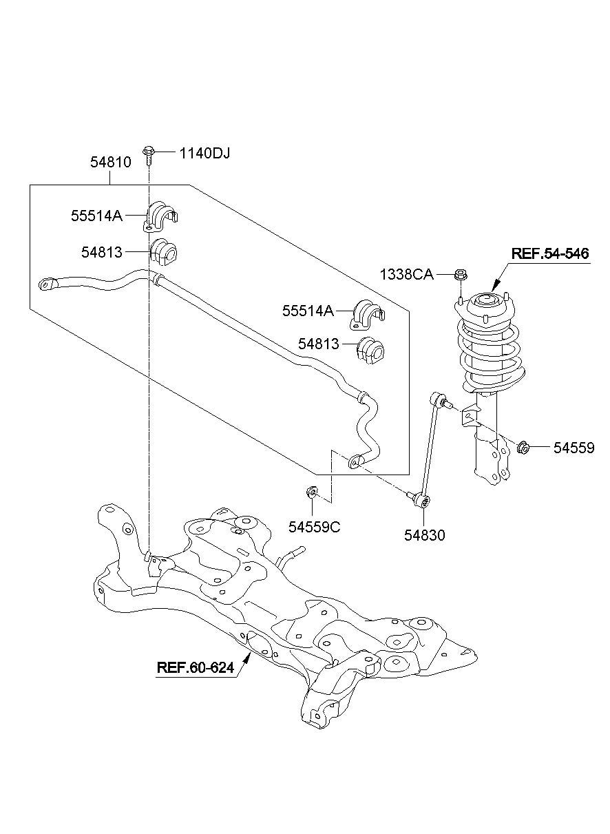 Hyundai FRONT SUSPENSION CONTROL ARM