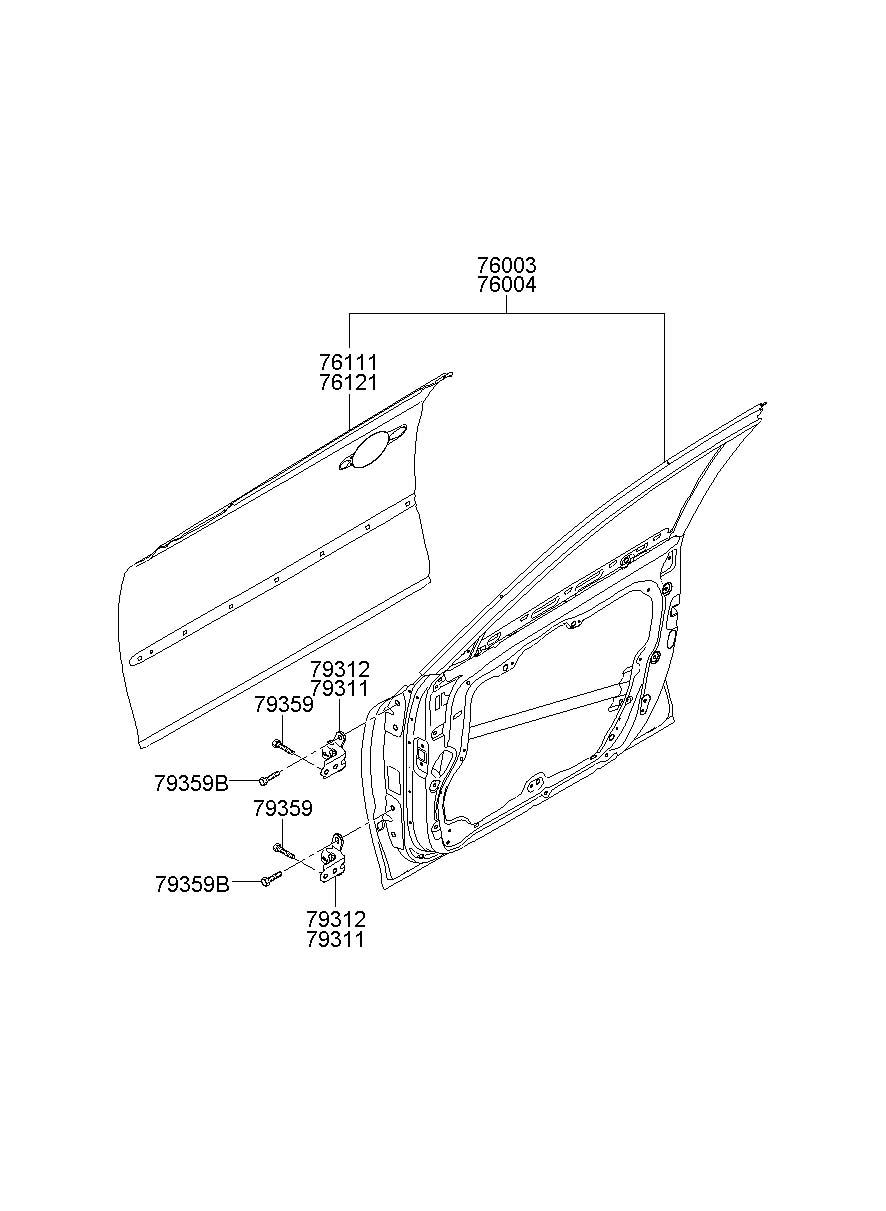 Service manual [Repair 2006 Hyundai Azera Door Panel