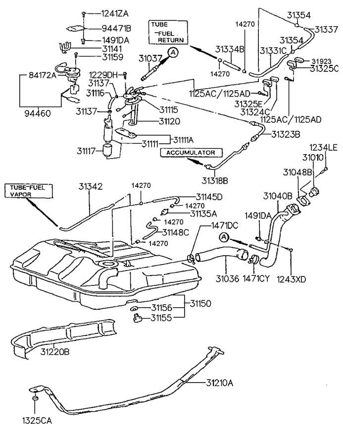2000 Hyundai Sonata FUEL TANK