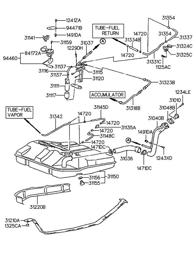 1990 Hyundai Excel FUEL TANK(MFI)