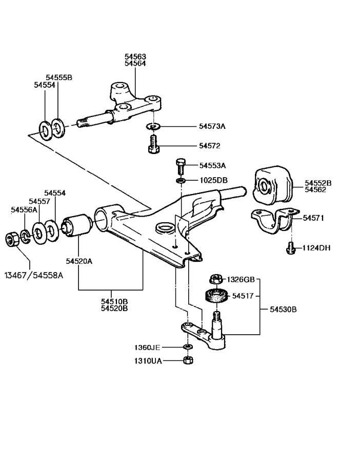 Hyundai Excel FRONT SUSPENSION LOWER ARM