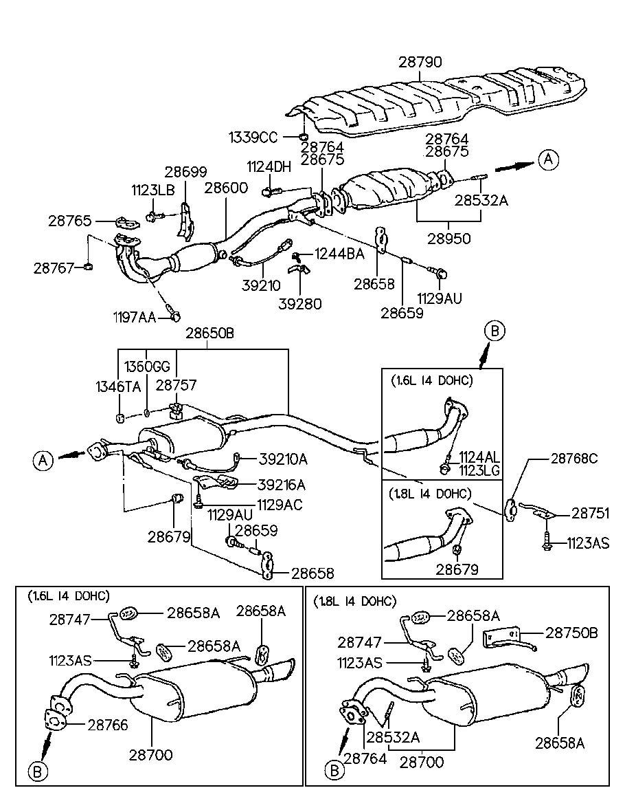 Hyundai Tiburon Stud ( 12x32 ). Alpha, systemsohc