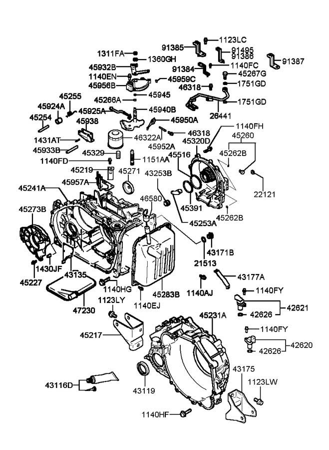 2002 Hyundai Sonata TRANSAXLE CASE(ATA)