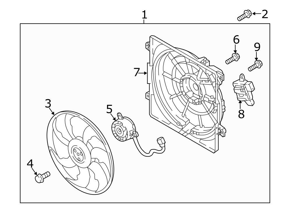 2016 Hyundai Tucson Engine Cooling Fan Shroud. Fan shroud
