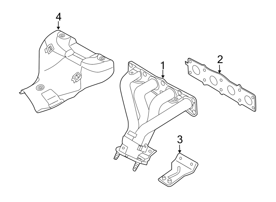 Hyundai I30 Exhaust Manifold Gasket. USACALIFORNIA, CANADA