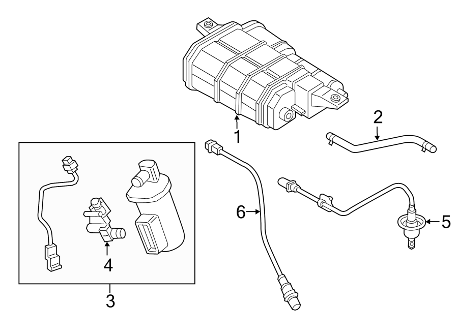 2015 Hyundai Sonata Filter & canister valve assembly