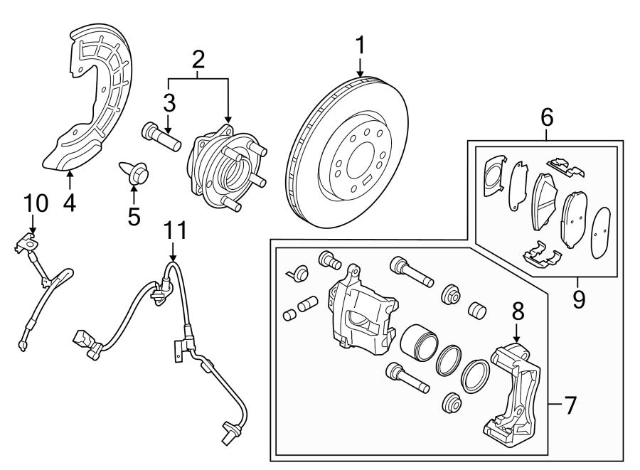 Hyundai Sonata Brake pads. Disc Brake Pad. FRONT PADS