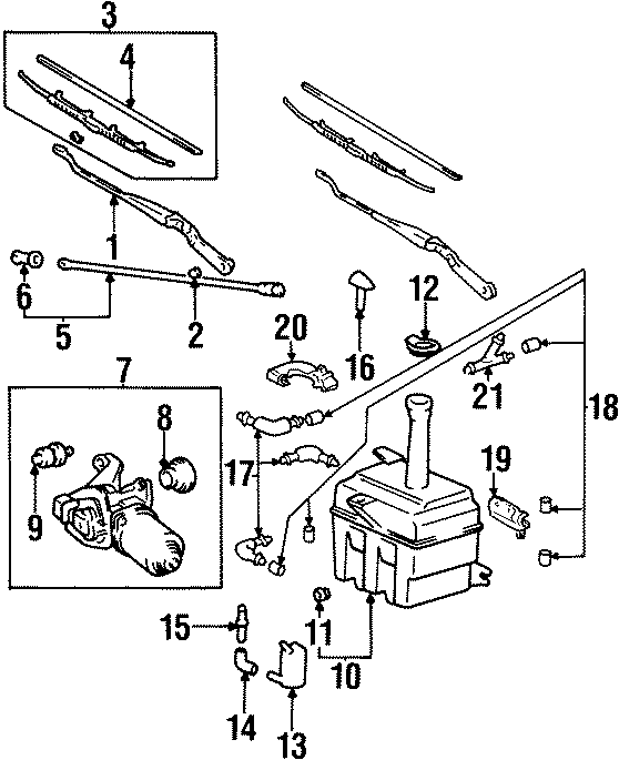 2003 Hyundai Elantra Pump. Washer. Motor. Windshield