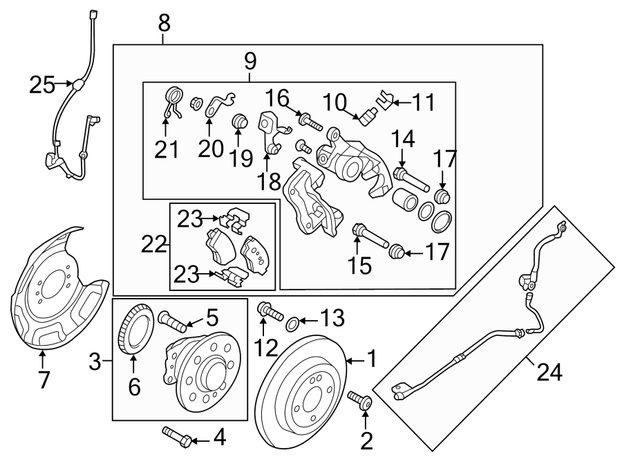 2012 Hyundai Accent Pad kit rear ( rear (rr) ) disc brake