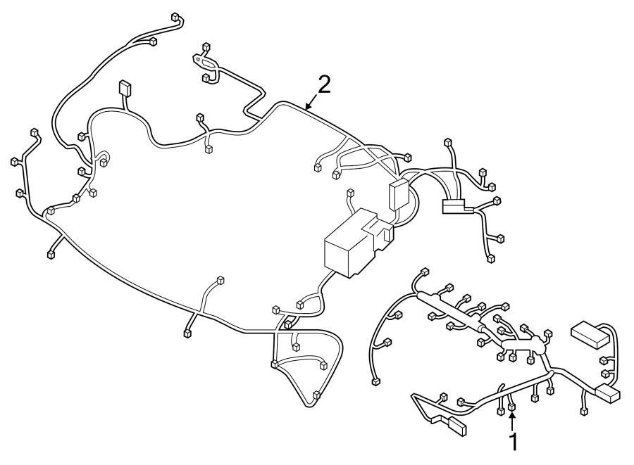 Hyundai Elantra Engine Wiring Harness (Front). US BUILT