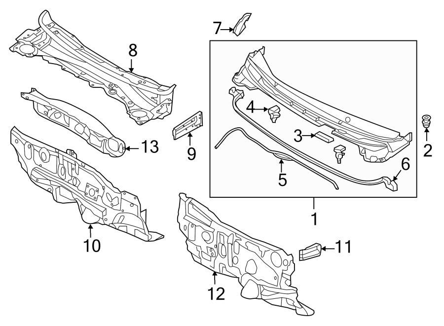 2013 Hyundai Elantra Windshield Parts Diagram. Hyundai