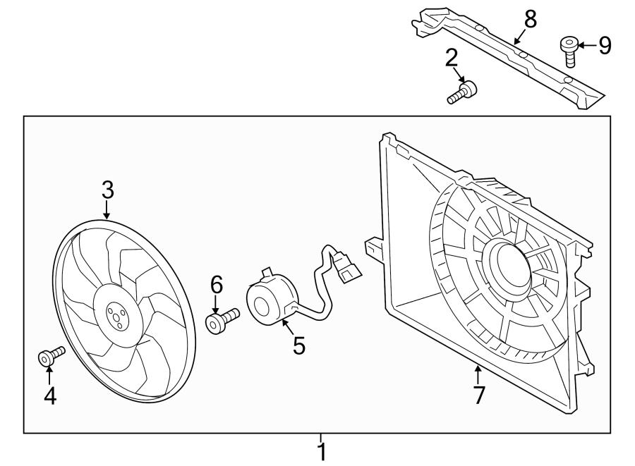 Hyundai Santa Fe Engine Cooling Fan Shroud. FAN SHROUD