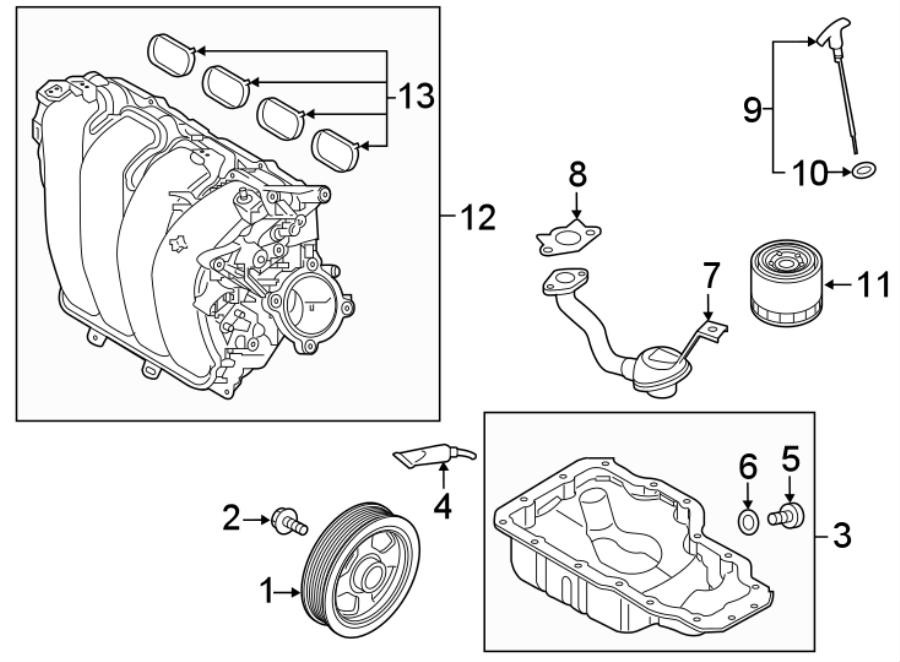 2013 Hyundai Elantra Coupe Engine Oil Filter. 1.6 LITER. 2