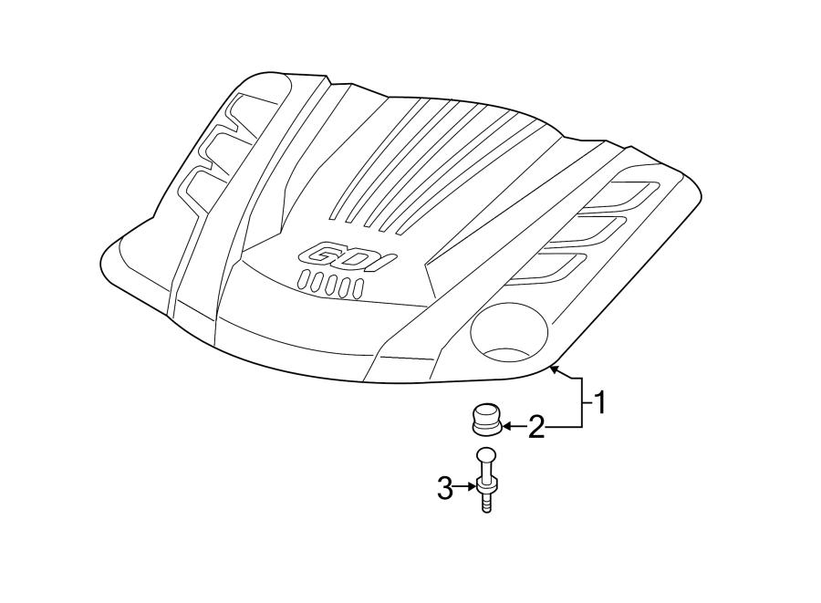 2013 Hyundai Genesis Coupe Engine Cover. 3.8 LITER, 2013