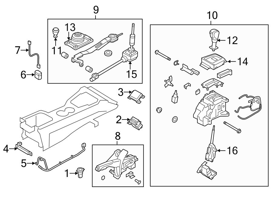 2015 Hyundai Genesis Coupe Manual Trans Shift Lever. Shift
