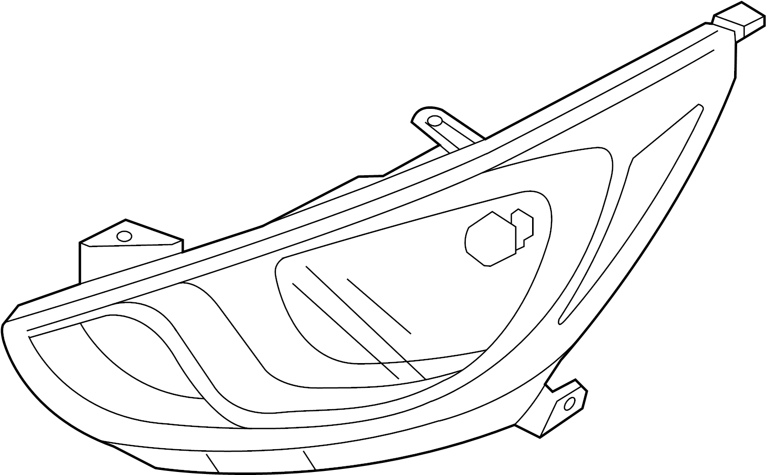 Hyundai Accent HEADLAMP COMPONENTS. FRONT LAMPS. W