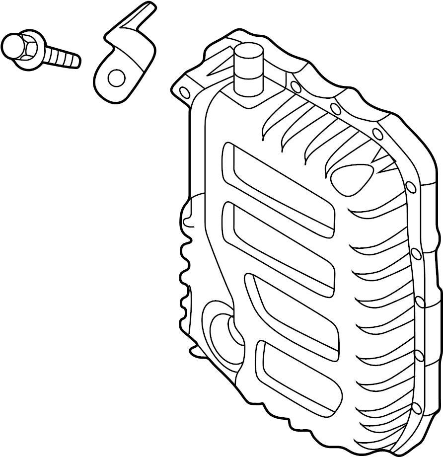 Hyundai Elantra Auto Trans Oil Pan. Side cover. PARTS