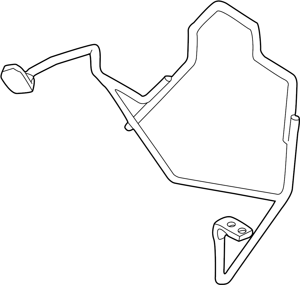 2002 hyundai santa fe parts diagram alternator wiring carrier assembly spare wheel