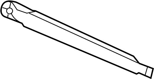 Hyundai Santa Fe Arm assembly rear ( rear (rr) ) wiper