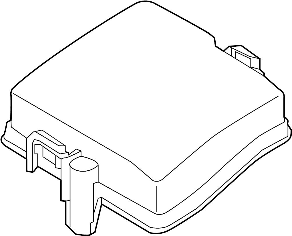 2015 Hyundai Santa Fe Fuse Box Cover. Upper cover