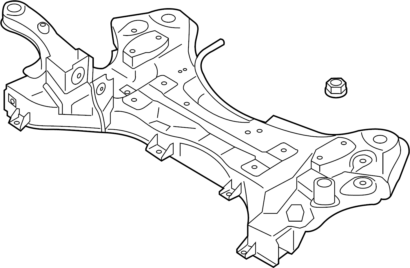 Hyundai Santa Fe Engine Cradle Suspension Subframe