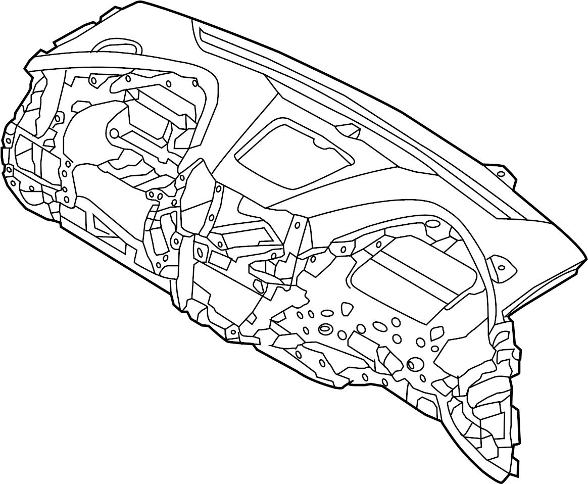 2015 Hyundai Santa Fe Dash Panel. Instrument panel
