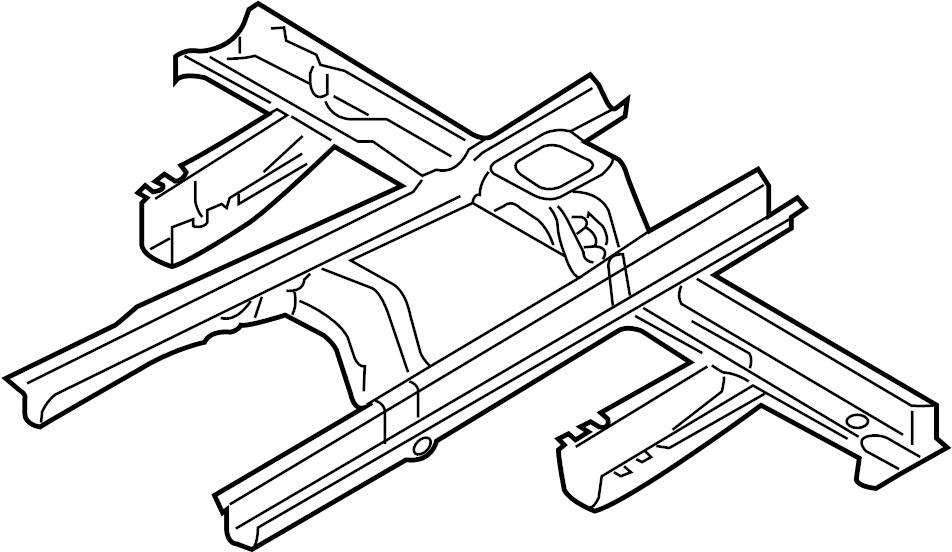 2015 Hyundai Santa Fe Floor Pan Crossmember. Front c