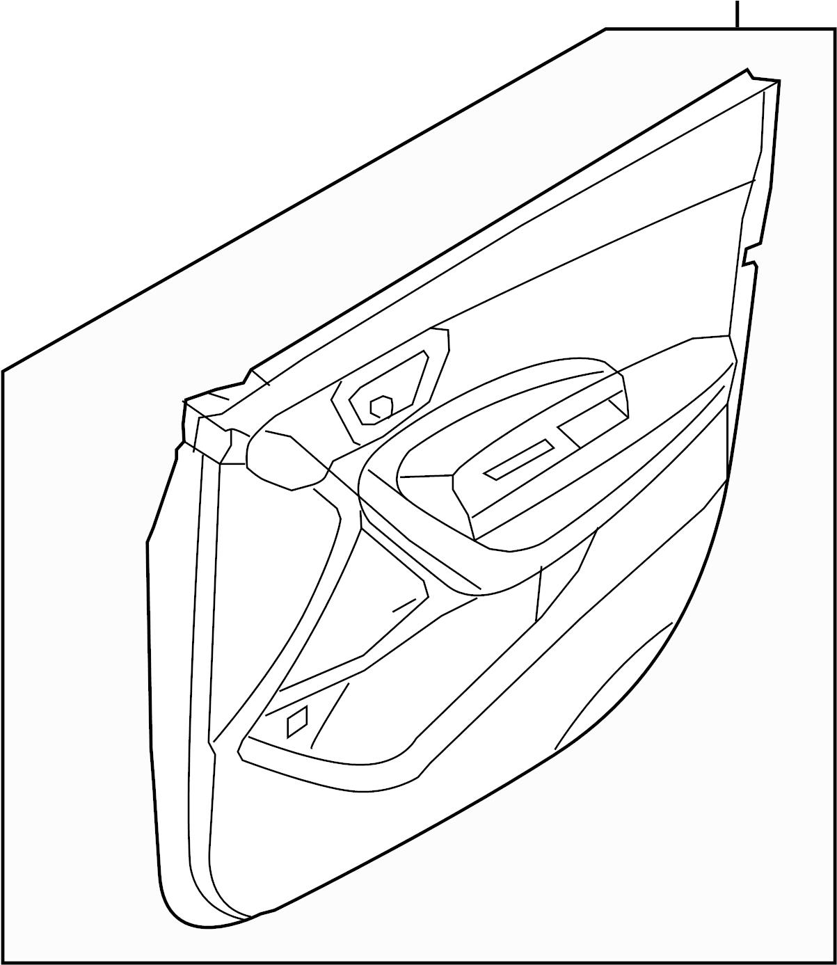 2015 Hyundai Santa Fe Door Interior Trim Panel. Door trim