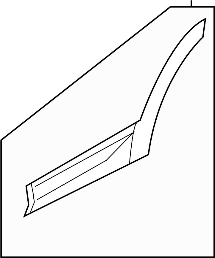 2015 Hyundai Santa Fe Door Molding. Side molding