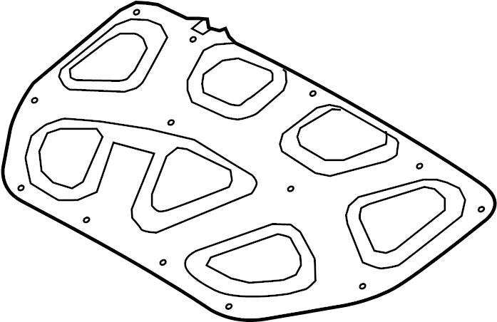 2015 Hyundai Genesis Hood Insulation Pad. Insulator