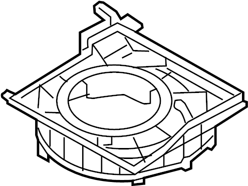 Hyundai VELOSTER Hvac blower motor housing. Upper case