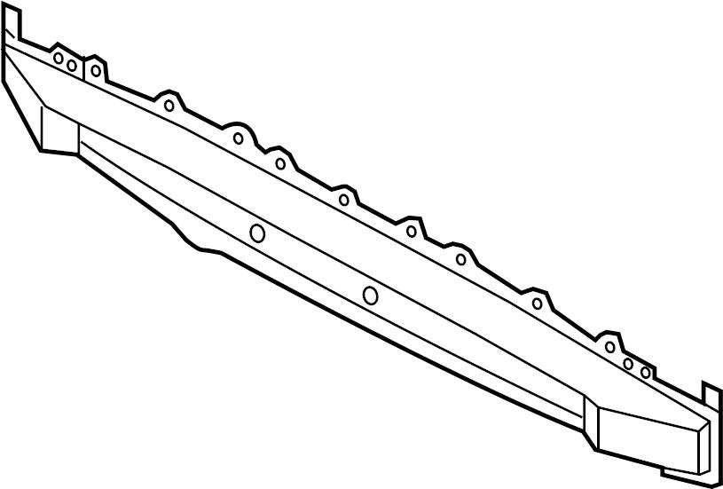 2013 Hyundai VELOSTER Rail rear ( rear (rr) ) bumper. Fob