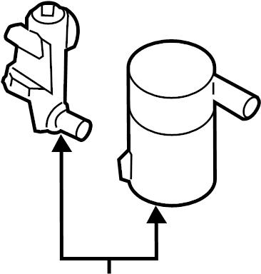 2009 Hyundai Sonata Filter. Canister. Valve. Vapor