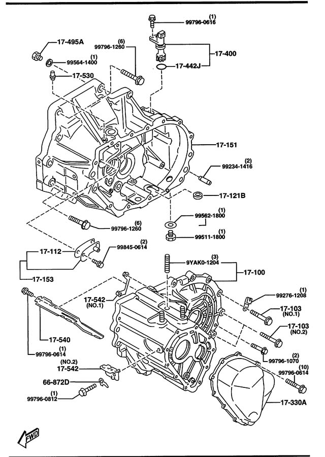 Service manual [1999 Mazda Protege How To Change