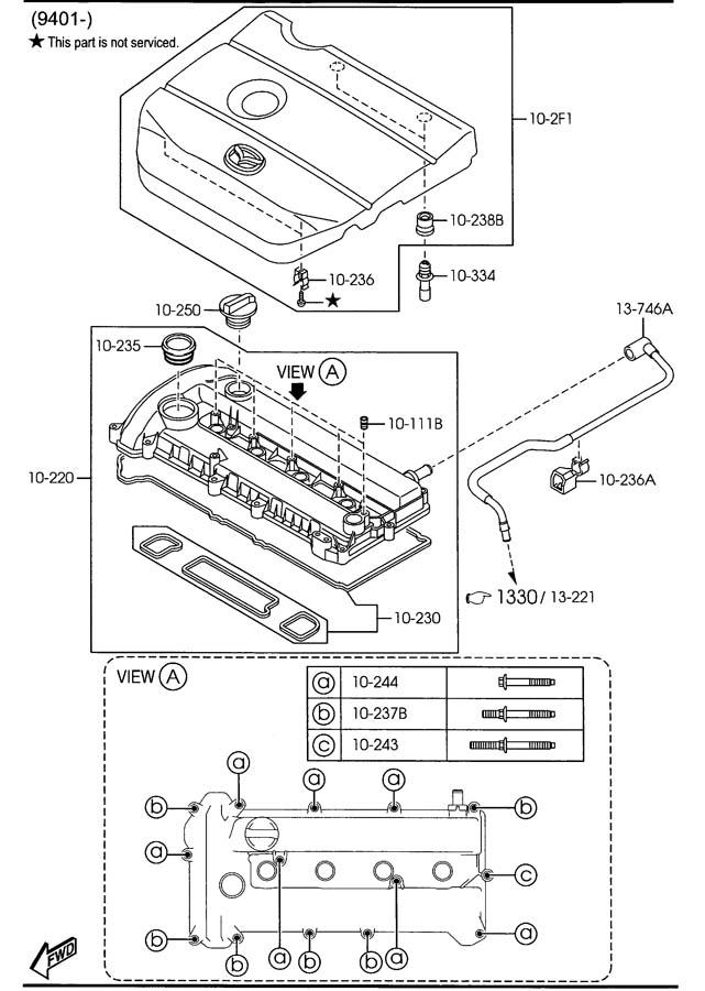 2008 Mazda Mazda 5 Engine Variable Valve Timing (VVT