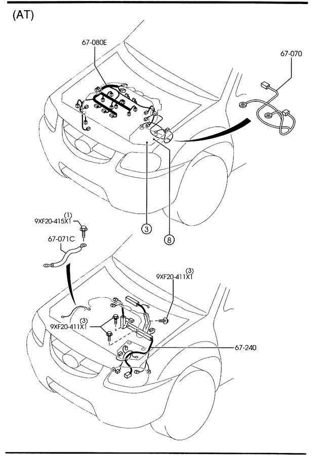 Mazda Tribute Wiring, injector (after10/01/01