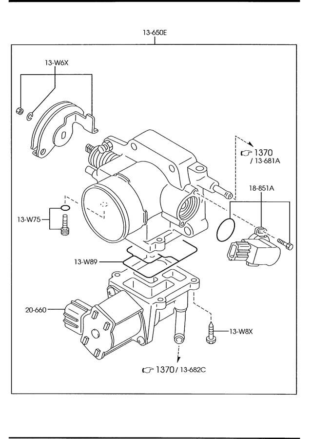 Mazda 626 Idle. Control. Valve. Air. SPEED. 2.0 LITER. IDL