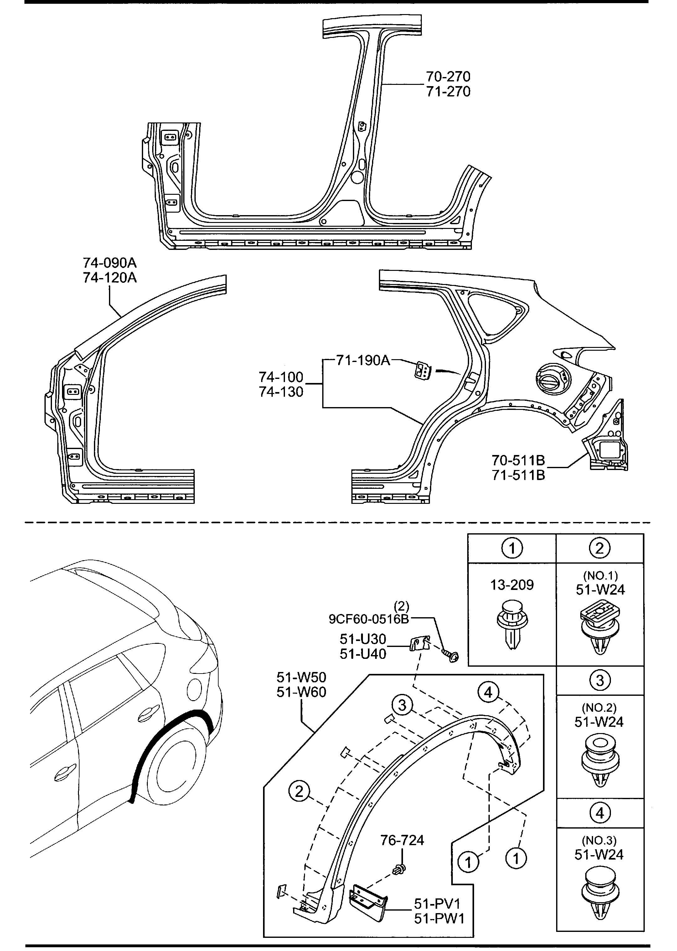 Mazda Cx 5 Fender Right R Over