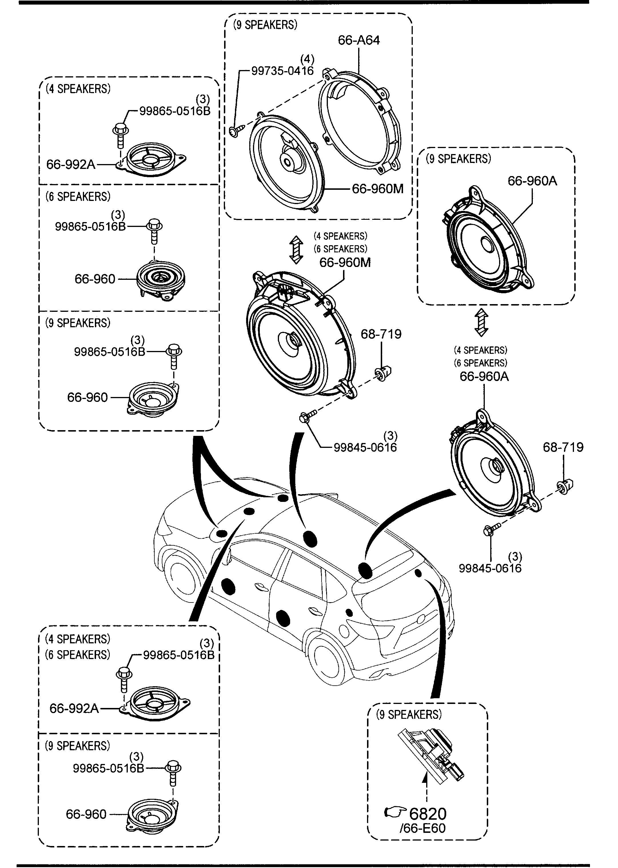 2014 Mazda CX-5 AUDIO SYSTEMS (ANTENNA & SPEAKER)