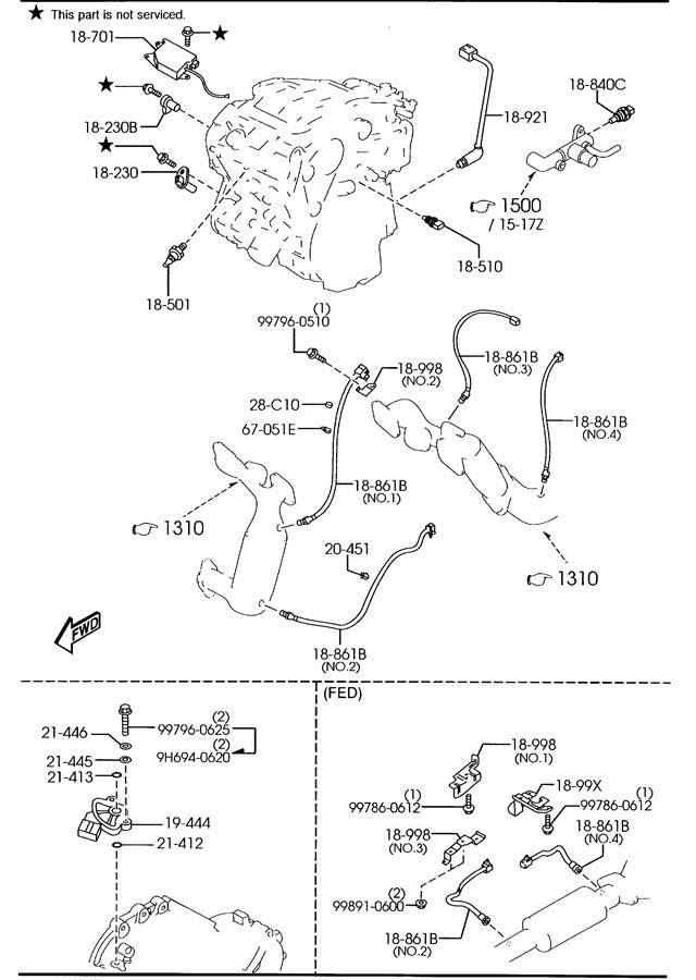 2001 Mazda MPV Imrc control/actuator. Runner