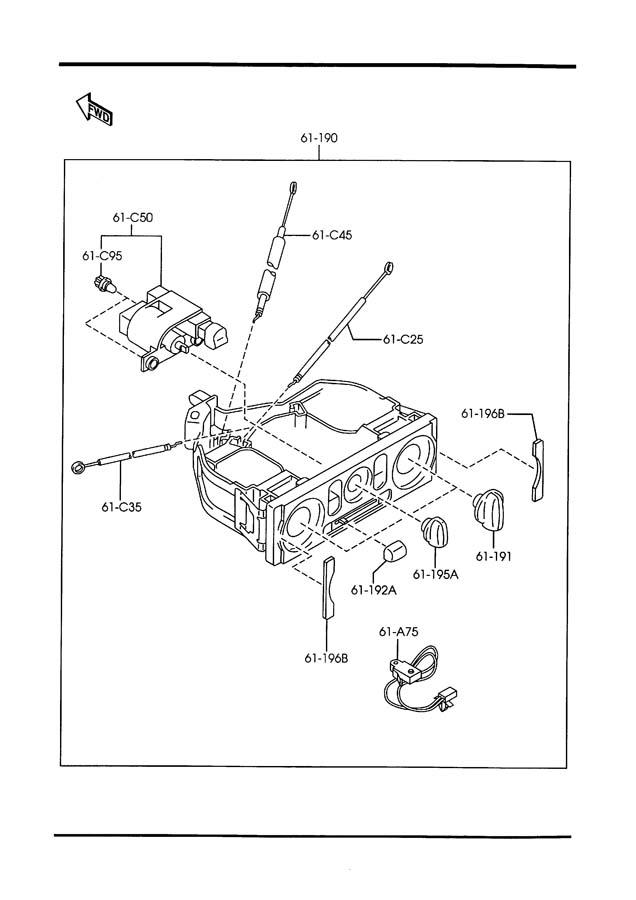 1999 Mazda Miata Hvac blower motor control knob. Fan