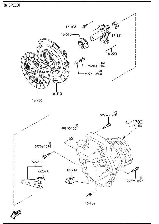 2005 Mazda Mazda 3 Transmission Clutch Friction Plate