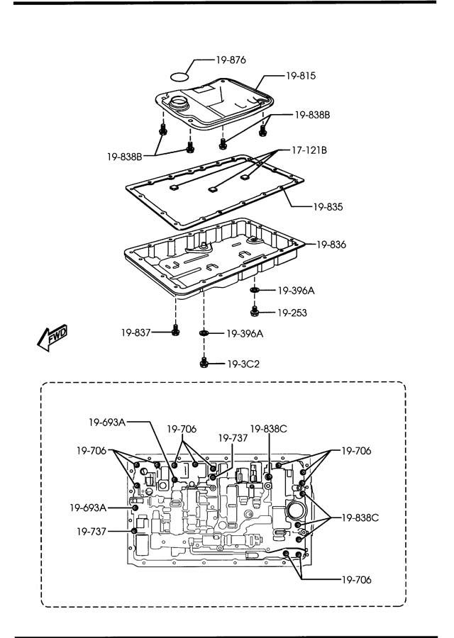 Mazda Miata Transmission Filter. AUTO TRANS. Miata MX5