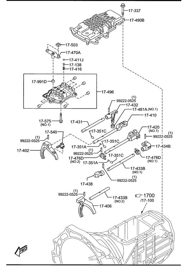 Mazda Miata Change lever knob. Knobleatherblack