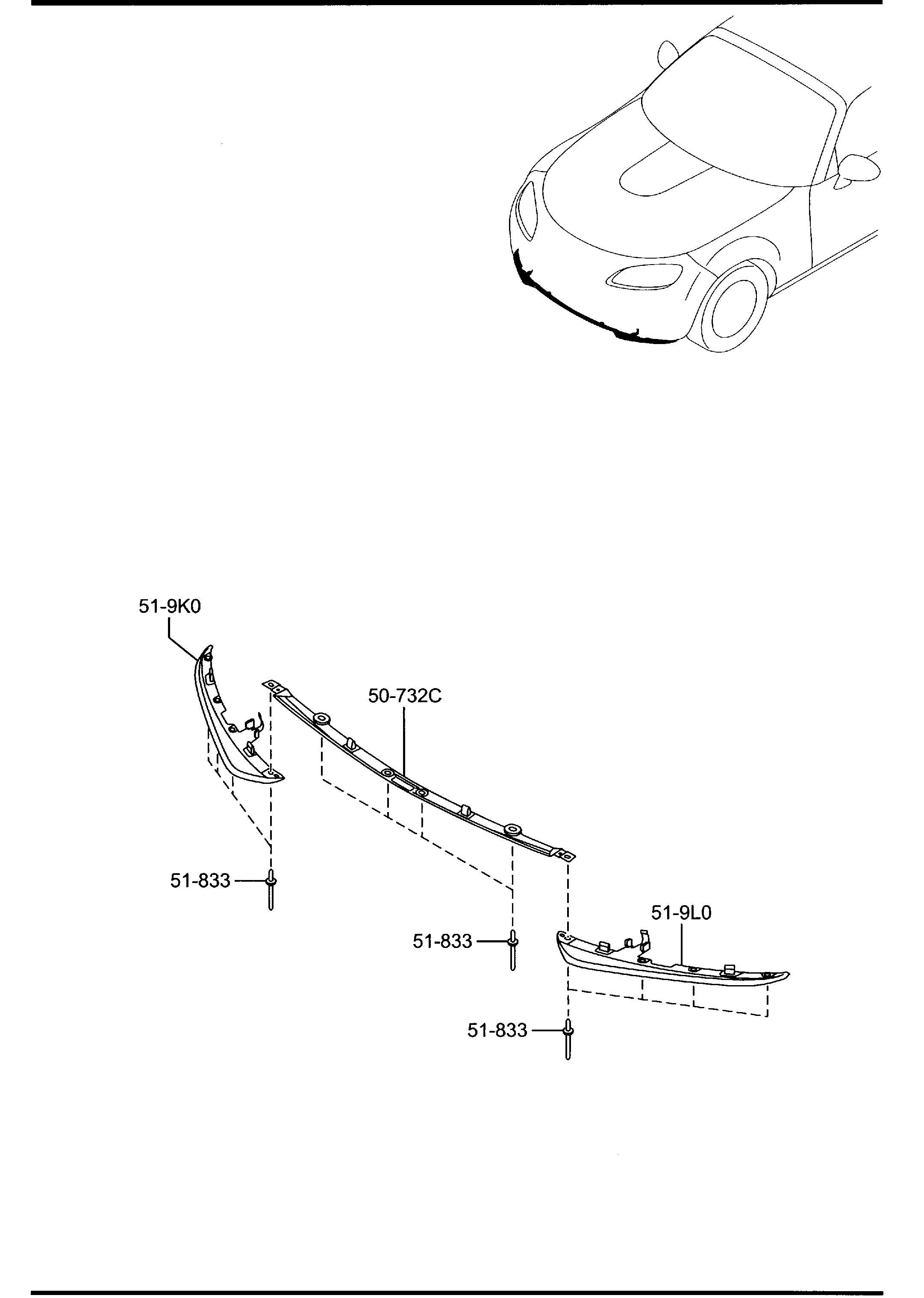 2012 Mazda Miata Skirt, Air Dam. (Left, Front). Spoliers
