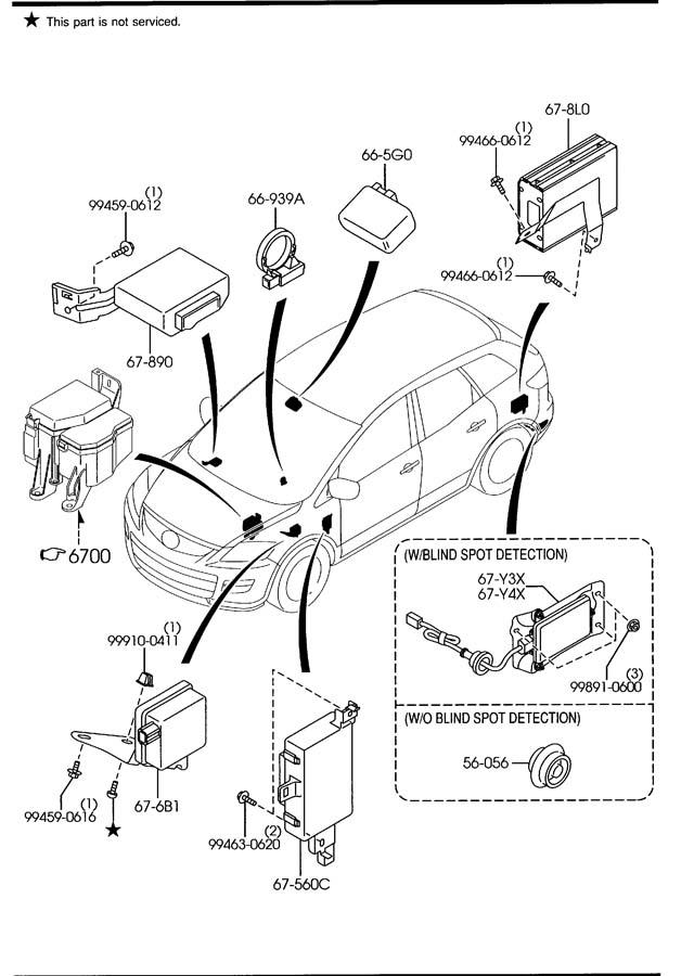 2009 mazda cx 9 parts diagram