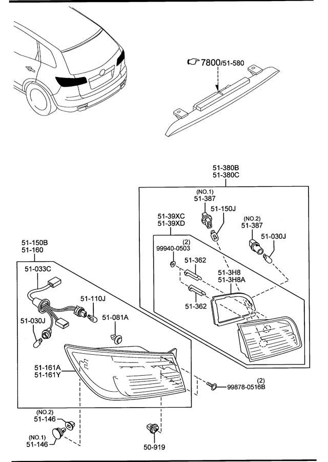 Mazda REAR COMBINATION LAMPS