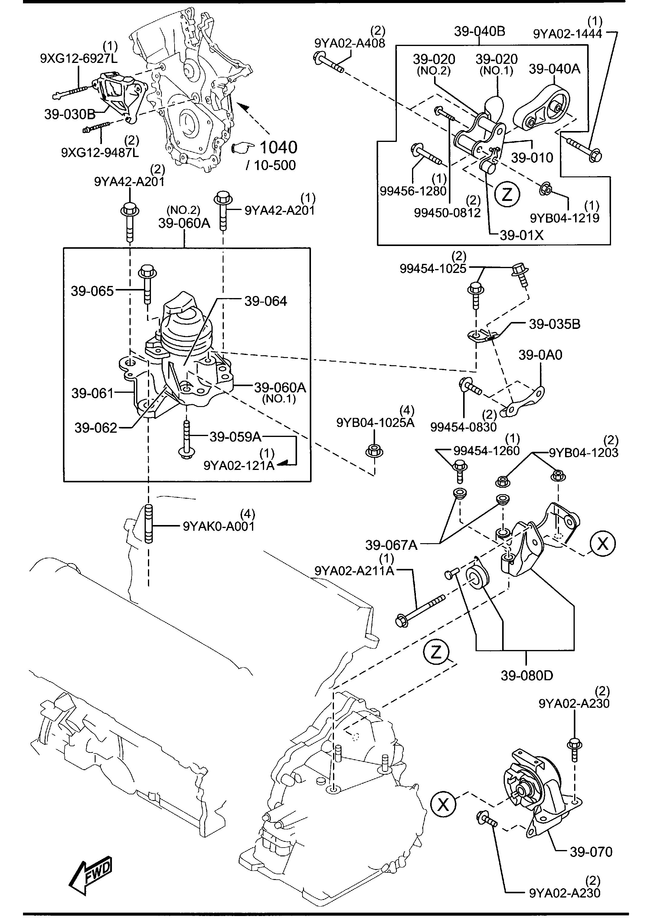Mazda Cx 9 Bracket Engine Mount Variable