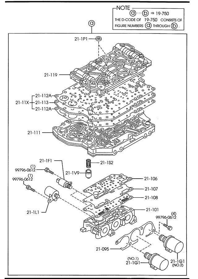 1999 Mazda Protege AUTOMATIC TRANSMISSION CONTROL VALVE